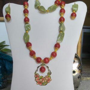 Coral & Jade Set